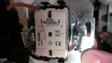 jalousie mit 2 schaltern schalter einbauen vorbereitung eines elektrischen