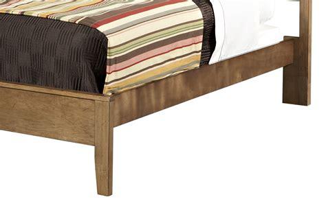Bed Frames At Sears L Powell Northbridge Quot Chagne Quot Size Rails Slats