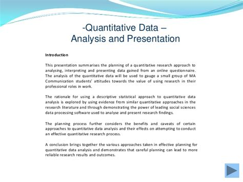 presentation analysis and interpretation of data in research paper quantitative data gathering and analysis
