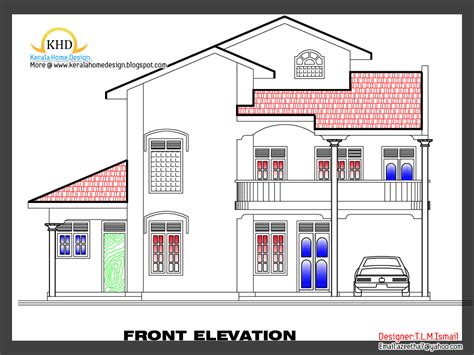 free home designs 2266 square feet free home plan and elevation kerala