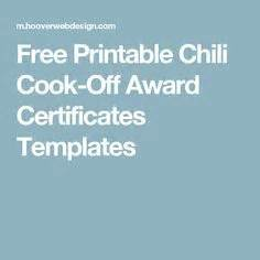 chili cook certificate template this is the chili cook ballot i made for our 2014