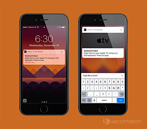 on iphone using your iphone or to type on apple tv two methods