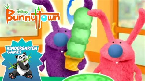 bunnytown ice cream parlour disney junior kids games youtube