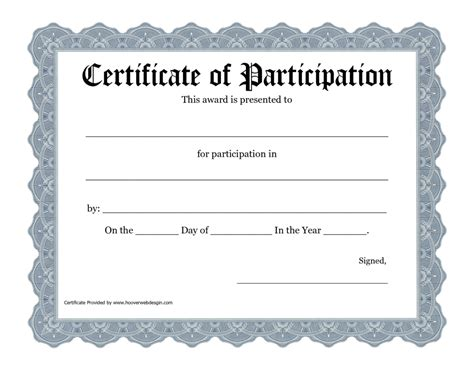 certificate of participation template with green broder gold