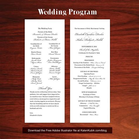 catholic mass wedding booklet template program template wedding program templates and ux ui