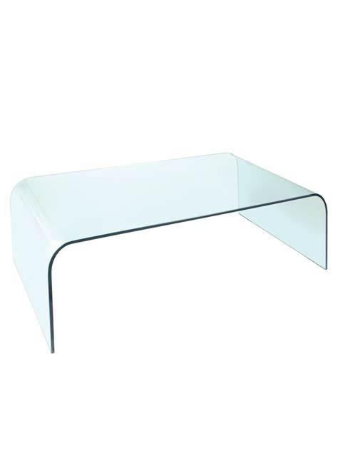 Arc Clear Glass Coffee Table By Greenapple Glassdomain Glass Coffee Table