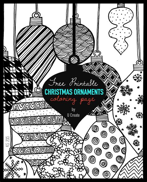 Free Ornaments Coloring Pages Printables Christmas Ornaments Adult Coloring Page U Create by Free Ornaments Coloring Pages Printables