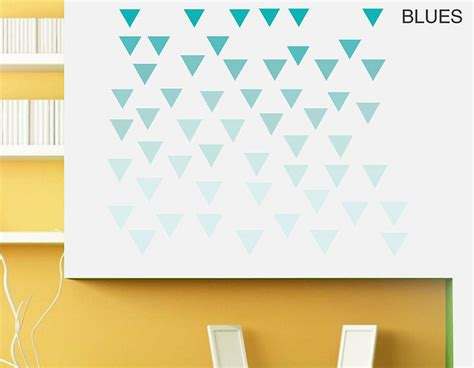 geometric wall stickers geometric triangles vinyl wall sticker set contemporary