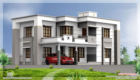 2400 square flat roof house house design plans