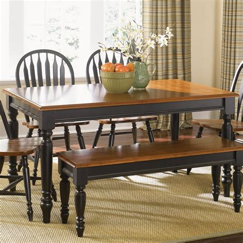 country kitchen tables with benches rectangular dining table with turned legs by liberty