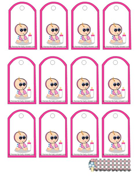 Printable Tags For Baby Shower by Free Printable Baby Shower Favor Tags