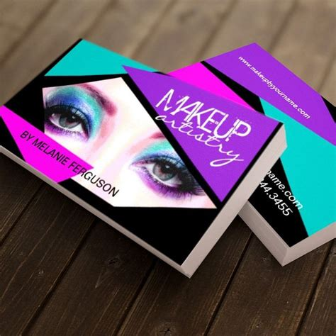 make up artist business cards bold makeup artist business card design created by and