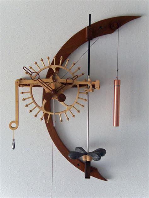 woodwork wooden gear clock  plan  plans