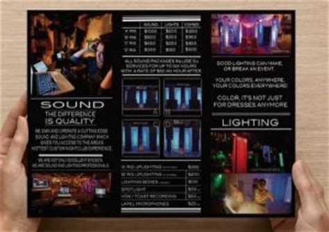 wedding dj brochure templates dj tips advertising your dj business from djntv