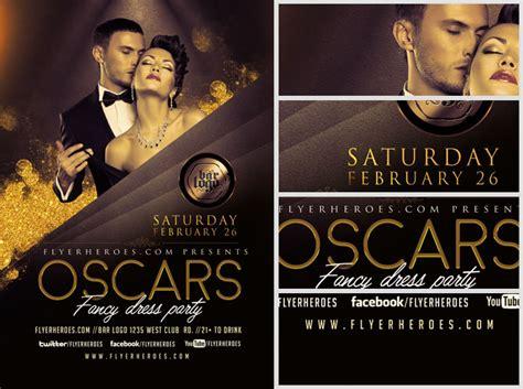 Oscars Fancy Dress Party Flyer Template V2 Flyerheroes Bash Flyer Template V2
