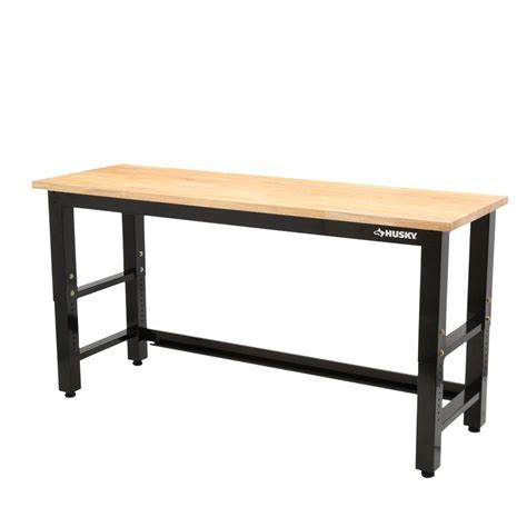 Husky 6 ft. Solid Wood Top Workbench G7200S US   The Home