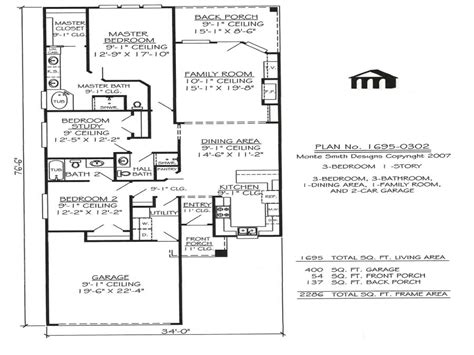 Single Story House Plans For Narrow Lots by Modern One Story House One Story Narrow House Plans