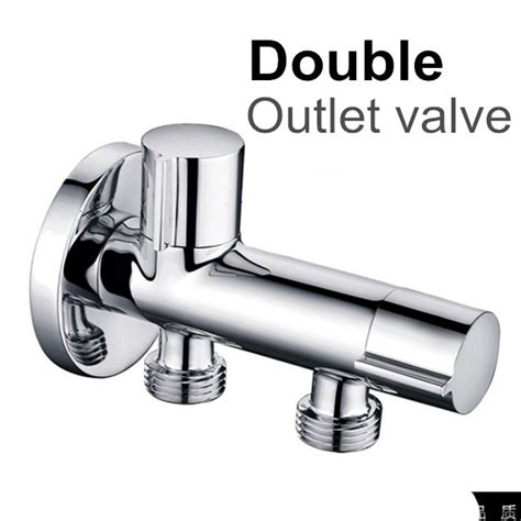 bathroom water outlet brass kitchen bathroom accessories double outlet angle