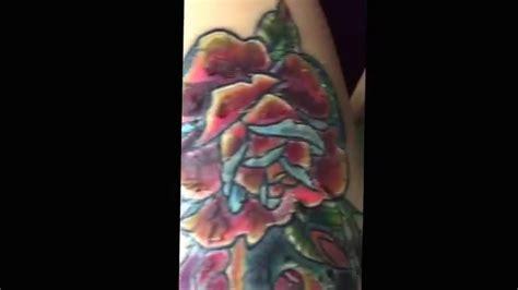 tattoo healing process day  scabbing  flaking youtube