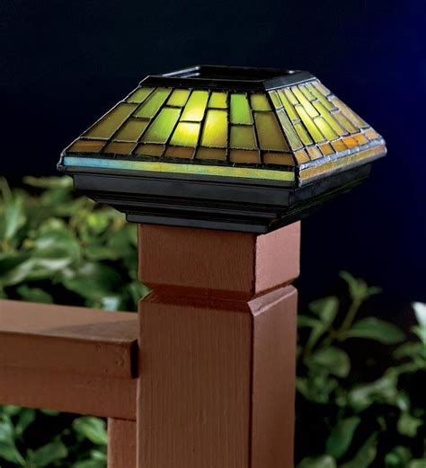 stained glass post light 75 best images about outdoor lighting on