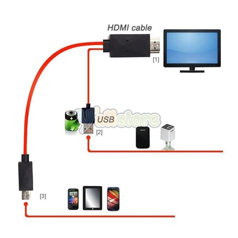 android to tv cable 2x micro usb to mhl hdmi hdtv media android cable tv av adapter for samsung ebay