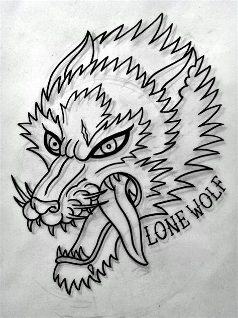american traditional wolf tattoos traditional wolf flash done by me
