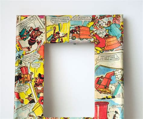 decoupage picture frame ideas decoupage picture frames using comics decoupage glue and