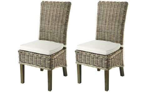 furniture kubu grey rattan dining chair casa