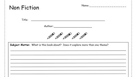 templates for non fiction books book review template non fiction by bubbleresources