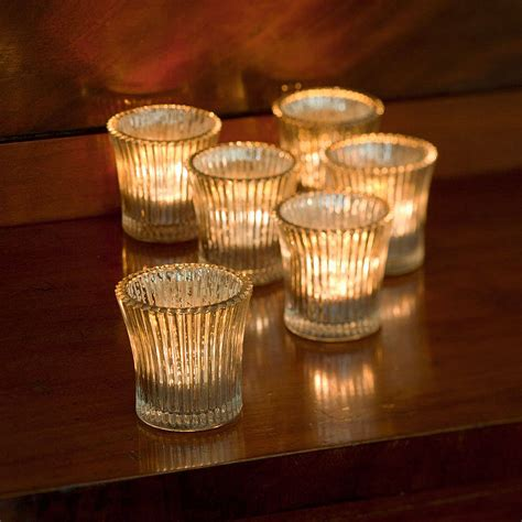tea light holder fluted glass tea light holder by all things brighton