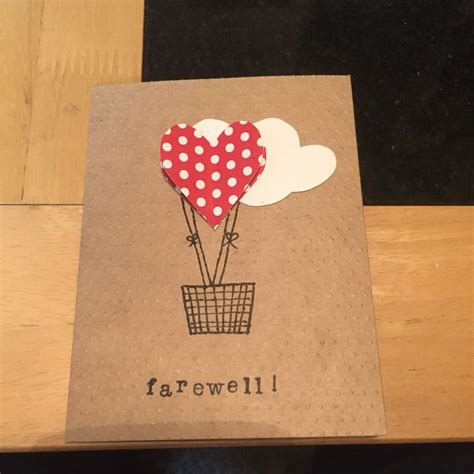 Handmade Farewell Cards - 17 best images about cards on cupcake
