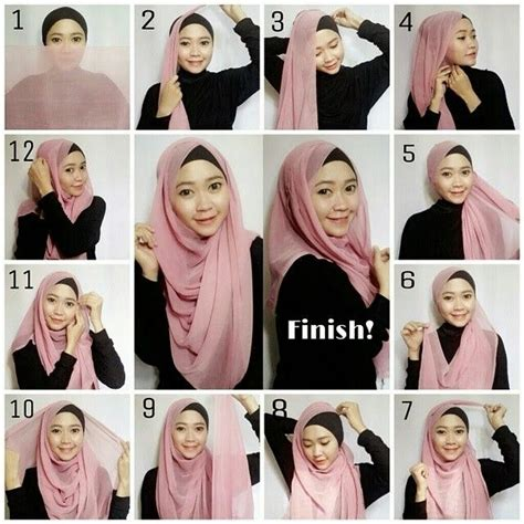 tutorial hijab modern 589 best images about hijab tutorial on pinterest