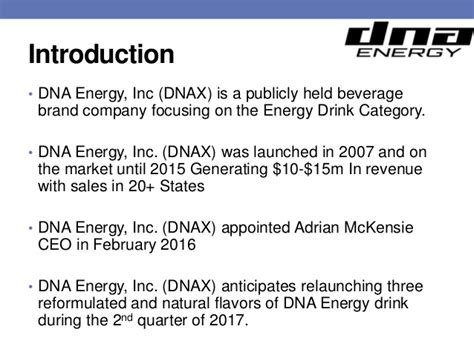 Dna Sles Are In by Dna Energy Presentation
