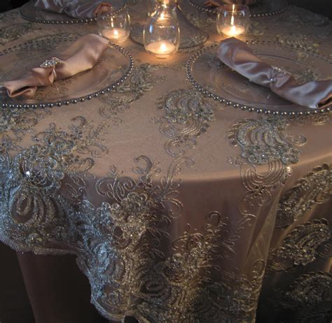 silver lace table overlay eleganceremembered nj jersey chair covers