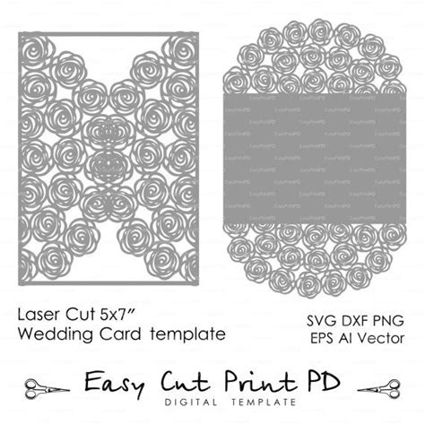 5x7 card template ai wedding invitation pattern card 5x7 quot template roses lace