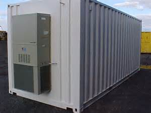 Shipping Container Storage Units - modified shipping containers with heat lighting a c