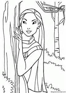 dibujos sin colorear dibujos pocahontas princesa disney colorear
