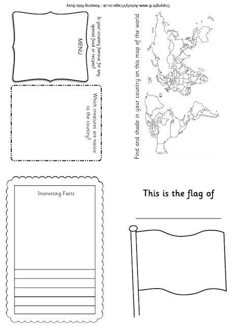 Activity Pass Card Template by Passport Printables Geography General