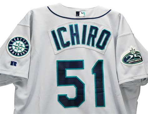 Ichiro Suzuki Seattle Mariners Jersey Lot Detail 2002 Ichiro Suzuki Seattle Mariners Used
