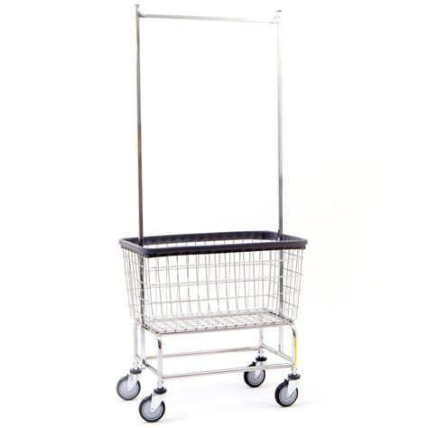 Laundry Cart With Hanging Rack by Wire Laundry Carts Laundry Hers Large Capacity Laundry Cart With Pole Rack