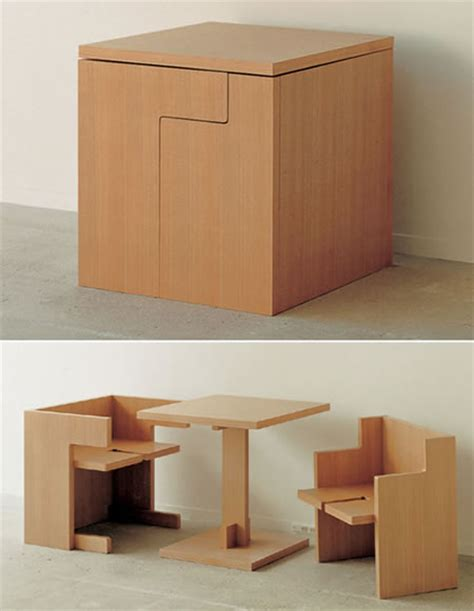 Space saving table and chairs bagofnothing com