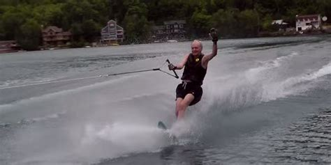 1 year water skiing forget the election here s 81 year jean chretien
