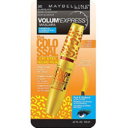 Maskara Maybelline Cat maybelline volum express colossal cat waterproof