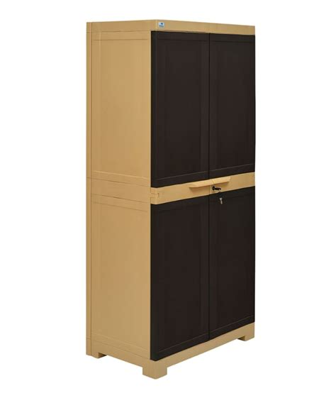 nilkamal freedom 2 door large cabinet brown buy