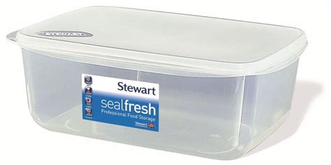 Lunch Storage Containers Stewart Sealfresh Plastic Rectangular Airtight Food