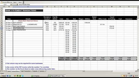 expenditure excel template small business expense spreadsheet template business