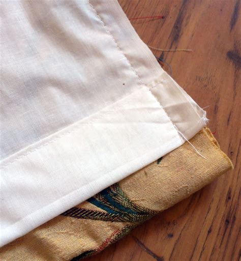 how to sew curtain panels with lining how to make lined curtains step 7a of our guide to