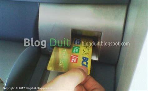 Mesin Printer Kartu Atm cara mengambil uang di mesin atm bca lengkap dengan gambar