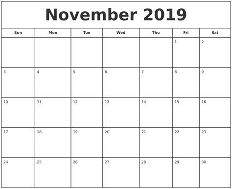 Calendar 2019 November August 2019 Calendar Printable