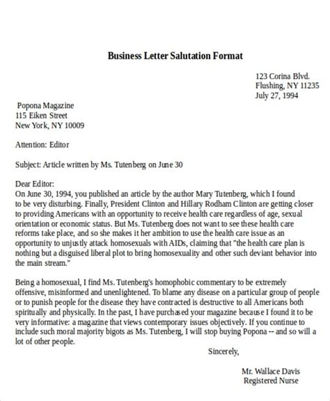 business letter greeting line business letter greeting letters free sle letters